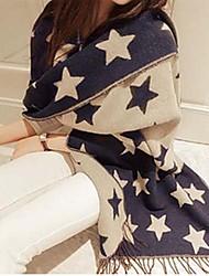Woman  Pentagram imitation cashmere scarf