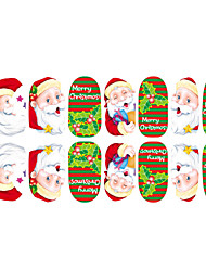 2015 6Pcs New Christmas Nail Art Stickers