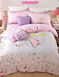 Beautiful girl print duvet cover Sets 100% Cotton Bedding Set Queen/Double/Full Size