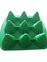 9 in 1 Christmas Tree 3D Silicone Chocolate Pudding Sugar Ice Cake Mold