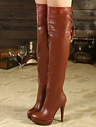 The new Europe stand tall with knee-high boots sexy show thin joker female boots