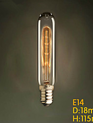 E14 40W  T22 Test Tube Edison Light Bulb Small Lo Industrial Pendant Lamp