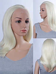Fashion Synthetic Wigs Lace Front Wigs 14inch Straight White Heat Resistant Hair Wigs Women