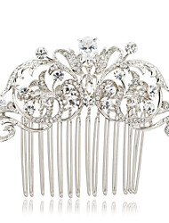 Wedding Hair Combs Tiara for Bridal Women Hair Pins Jewelry Accessories with CZ Rhinestone