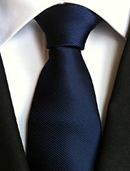 Men Wedding Cocktail Necktie At Work Dark Blue Multiple