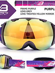 Basto tpu negro gafas de nieve marco esquí sensor plata