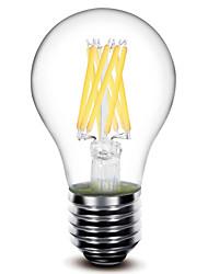 E26/E27 Lampadine LED a incandescenza A60(A19) 8 COB 800 lm Bianco caldo Decorativo AC 220-240 V 1 pezzo