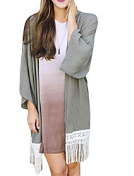 Women's Solid Gray Shirt , Off Shoulder Long Sleeve