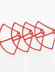 sima X8c x8w x8g cadre de la protection de l'anneau de protection rouge et quatre pièces d'aéronefs d'avions d'axe