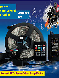Z®ZDM 5M 150PCS SMD5050 LED 20 Keys Seven Sound Colors LED Remote Control RGB Strips IP44