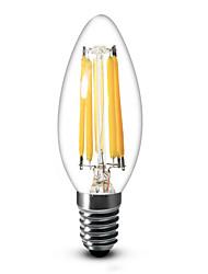 SML Lâmpada Vela Regulável E14 / E12 6 W 600 LM 2700 K Branco Quente / Branco Frio 6 COB 1 pç AC 220-240 / AC 110-130 V C35
