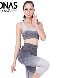 Yoga Suits Tops / Bottoms Yoga Pants + Yoga Tops Breathable / Lightweight Materials High Elasticity Sports Wear Yoga