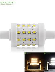 R7s 78mm 36 x 2835smd 8W lämmin valkoinen / viileä valkoinen 800lm 360 ° säde horisontaalinen pistoke valot himmennettävä tulva valo