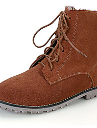 Women's Shoes Suede Flat Heel Fashion Boots / Combat Boots / Pointed Toe Boots Outdoor / Suede Leather Shoes