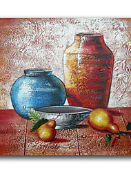 IARTS®Two Jar Still Life Products Oil Painting Wall Art Decoration Framed Wall Art