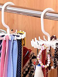 Adjustable 20 Hook Rotating Belt Rack Scarf Organizer Men Tie Hanger Holds