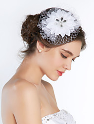 Women's Silk Headpiece-Wedding Special Occasion Birdcage Veils
