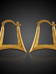Moni Women's 18K Gold Plated Fashion Rhinestone Circle  Earrings