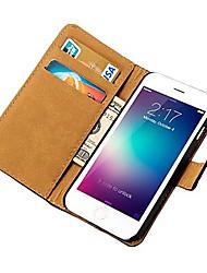 Pour Coque iPhone 6 / Coques iPhone 6 Plus Portefeuille / Avec Support / Clapet Coque Coque Intégrale Coque Couleur Pleine Dur Cuir PU