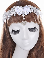 Women's Satin / Lace / Acrylic Headpiece - Wedding / Special Occasion Headbands