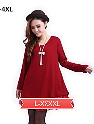 Women's Plus Size Knitted A-line Dress