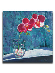 Still Life Vase And Flower Blue Background Modern House Wall Art Framed Design