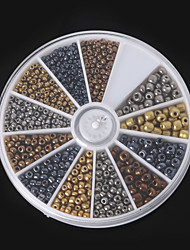 Beadia 1Box/46g Glass Seed Beads Assorted Size 2mm 3mm 4mm Round Mixed Metallic Colors Small Glass Beads (aprx.1000pcs)