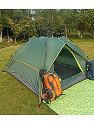 OUTDOOR MATE®Outdoor Double 3-4 Dark Green Rain UV Family Camping Tent Automatic