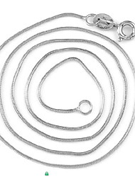 Round Snake Silver Chain Necklaces