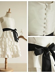 A-line Knee-length Flower Girl Dress - Taffeta Cupcake Sleevless