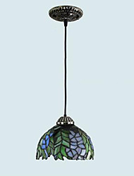 E27 220V 20*20CM 5-10㎡European Rural Creative Arts Stained Glass Chandelier Restoring Ancient Ways Lamp Led Light