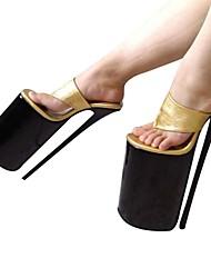 Damen-High Heels-Party & Festivität-PU-Stöckelabsatz-Plateau-Gold