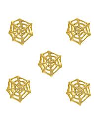 10pcs Spider Web Charm 3D Metal Alloy 7mm x8mm Nail Art Decoration