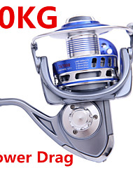 30KG Power Drag 4.7:1 8+1 Ball Bearings Spinning Reels Sea Fishing Boat Fishing Jigging Fishing Reel 8000 Size