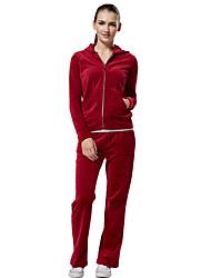 LEFAN velvet suits for women autumn winter sports wear long-sleeved fleece tide fashion leisure suit