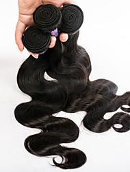 indiano 3pieces cor onda dyeable corpo cabelo virgem / lot extensão do cabelo não processado 7a 8-30inch frete grátis alta qualidade