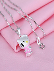 Cute Sterling Silver Pendant Necklace