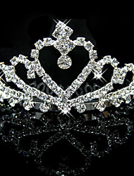 Rich Long Women's Silver Plated Imperial Crown