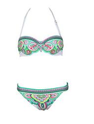 Women Nylon Underwire Bra Halter Bikinis