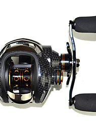 SHISHAMO 6.3:1, 18 Ball Bearings One Way Clutch Baitcasting Reel Fishing Reel, Right Handed Carp Fishing Reel