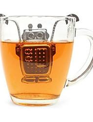 Robot suspendus inoxydable boule à thé en acier avec bac de récupération
