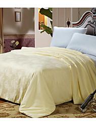 100% Cotton Bedding Jacquard 100% Silk Quilt Winter Comforter Silk Net Weight 4000g Queen King White / Pink / Beige