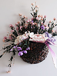 Wall Decoration Flowers,with Vase,Countryside Style