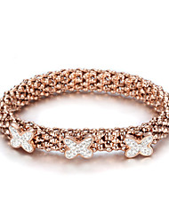 Beautiful Rose Gold Plated Stretch Bracelet