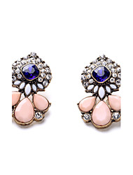 European and American fashion brand accessories wholesale and pure and fresh and simple and generous lady blue diamond stud earrings 0402 #