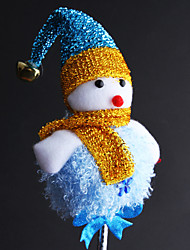 natale blu pupazzo di neve bacchetta magica 1pc