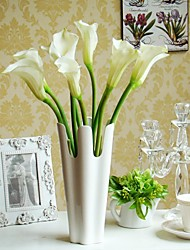 Pu High Quality Calla Lily Polyester Calla Lily Artificial Flowers