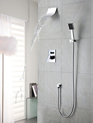 Shower Faucet / Bathtub Faucet Contemporary Waterfall / Rain Shower / Handshower Included Brass Chrome