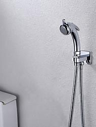 montado na parede do banheiro / WC portátil pistola shattaf bidé, com válvula de fluxo de água e 150 cm de mangueira de aço inoxidável