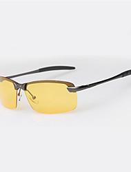 Lunettes de vision nocturne hommes 's Polarisée / 100% UV Envelopper Lunettes de Sport